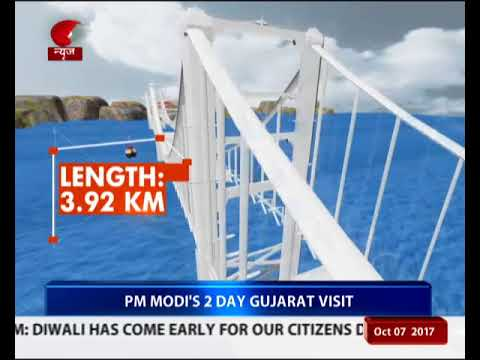 PM lays foundation stone for Okha-Bet Dwarka bridge & inaugurates road development projects