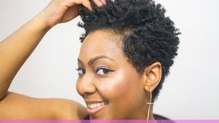 How to do Finger Coils on Natural Hair and Rock a Coil out with a Tapered Cut
