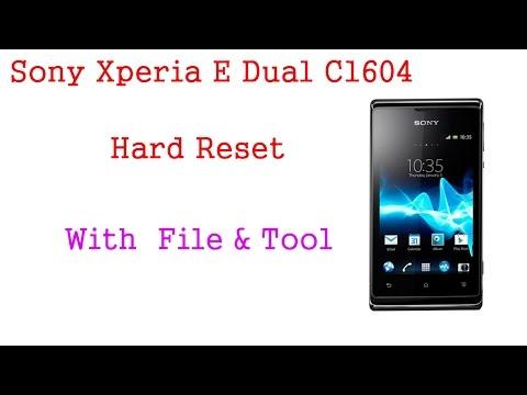 Sony Xperia E dual C1604 Hard Reset Tool & File