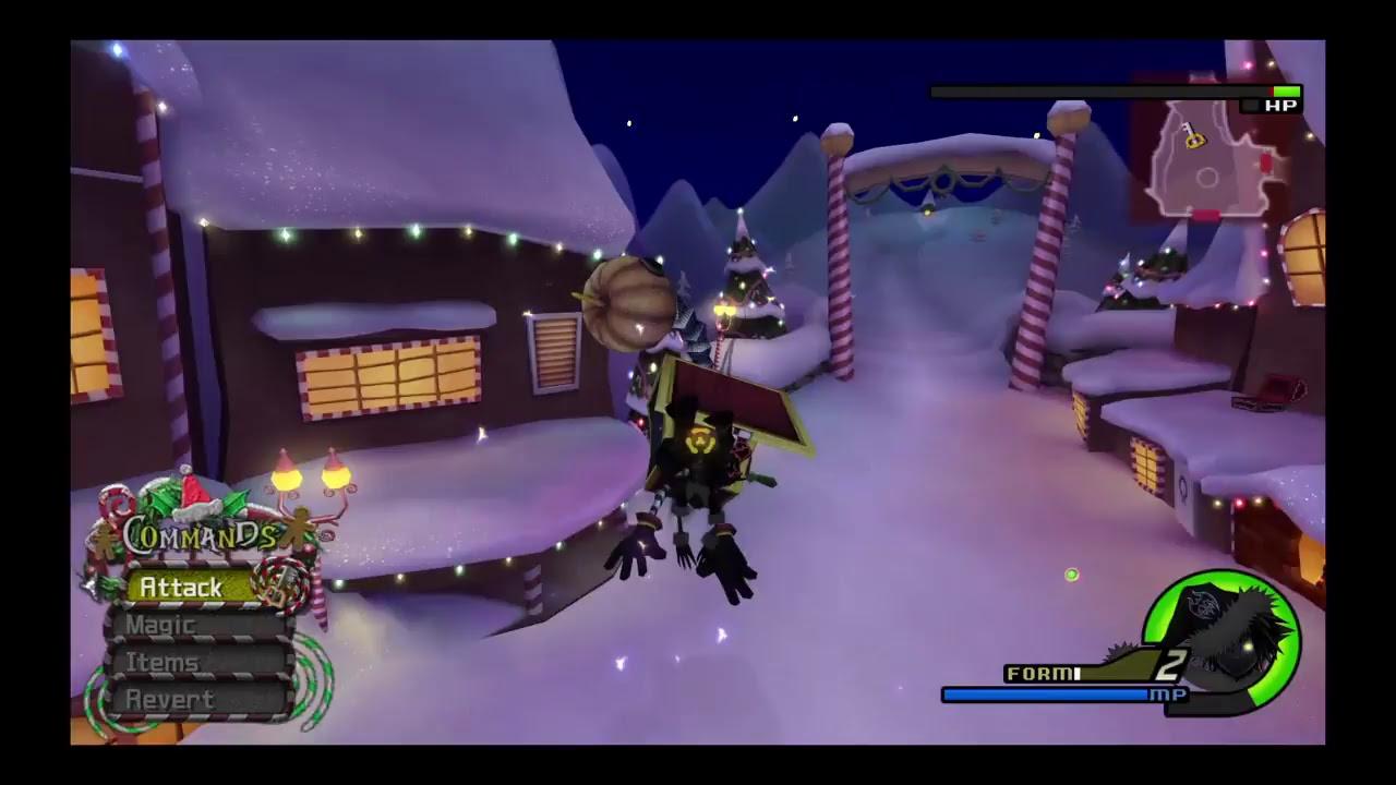 Kingdom Hearts 2 Christmas Town Sora Heartless Form - YouTube