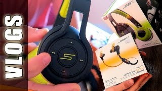 unboxing sms audio in ear on ear headphones respondiendo comentarios guidofto vlogs