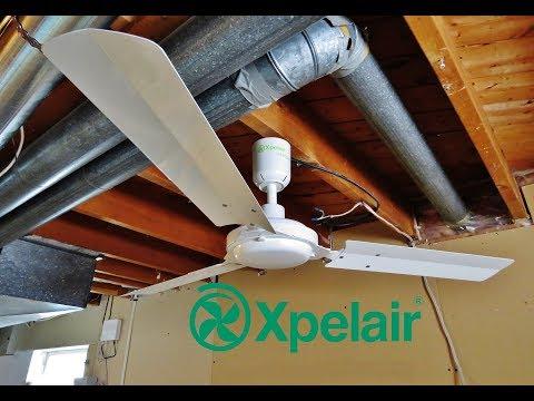 1996 Xpelair Whispair 120 cm Ceiling Fan (Maximum Speed)