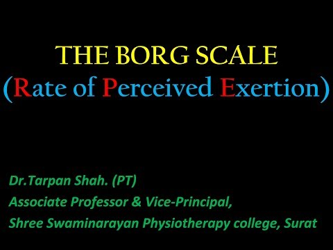The Borg Scale (Rate of Perceived Exertion)