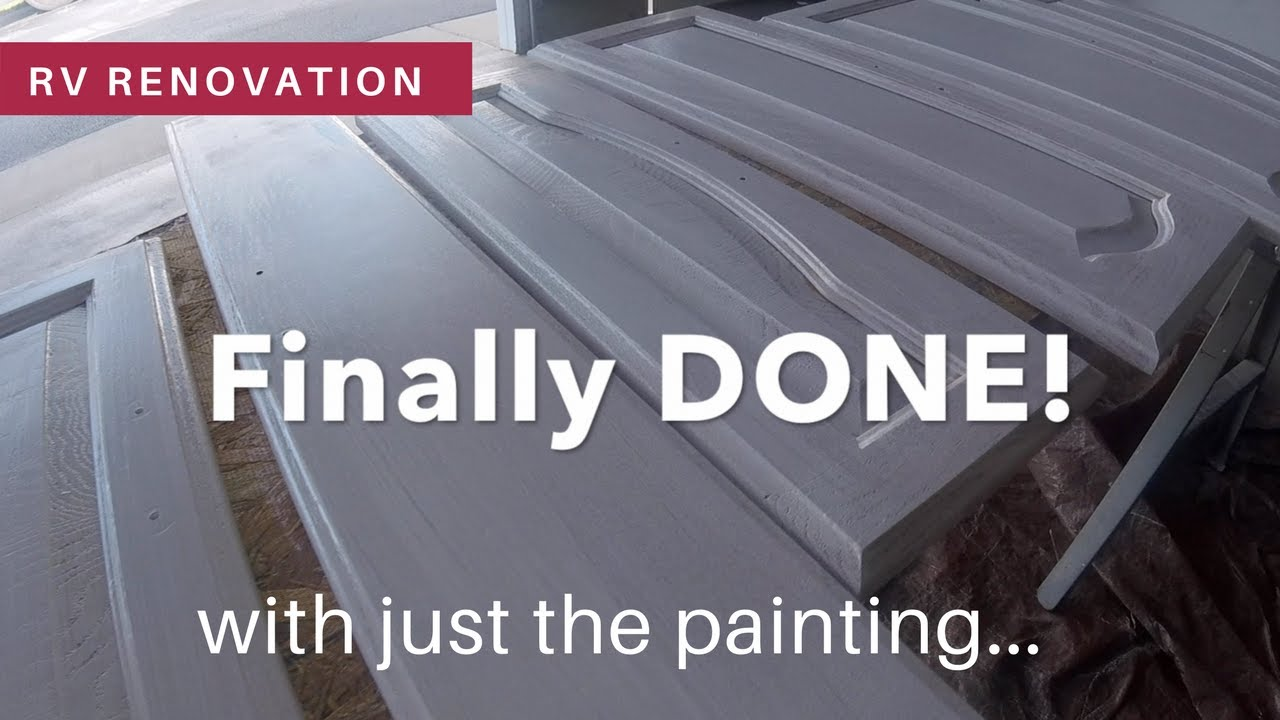 Rv renovation how to paint rv cabinet doors and drawers youtube rv renovation how to paint rv cabinet doors and drawers eventshaper