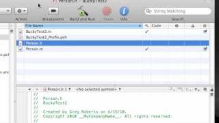 Objective C Programming Tutorial - 23 - Seperating Files