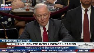 FULL OPENING STATEMENT: Attorney General Jeff Sessions Senate Intelligence Hearing (FNN) Free HD Video