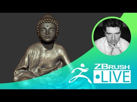 ZBrush 2018 - Buddha: From my 3D scanned son to 3D Printing - Part 1 - Thomas Roussel