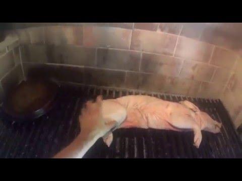 como hacer Lechon a la Parrilla (paso a paso) tradición Argentina