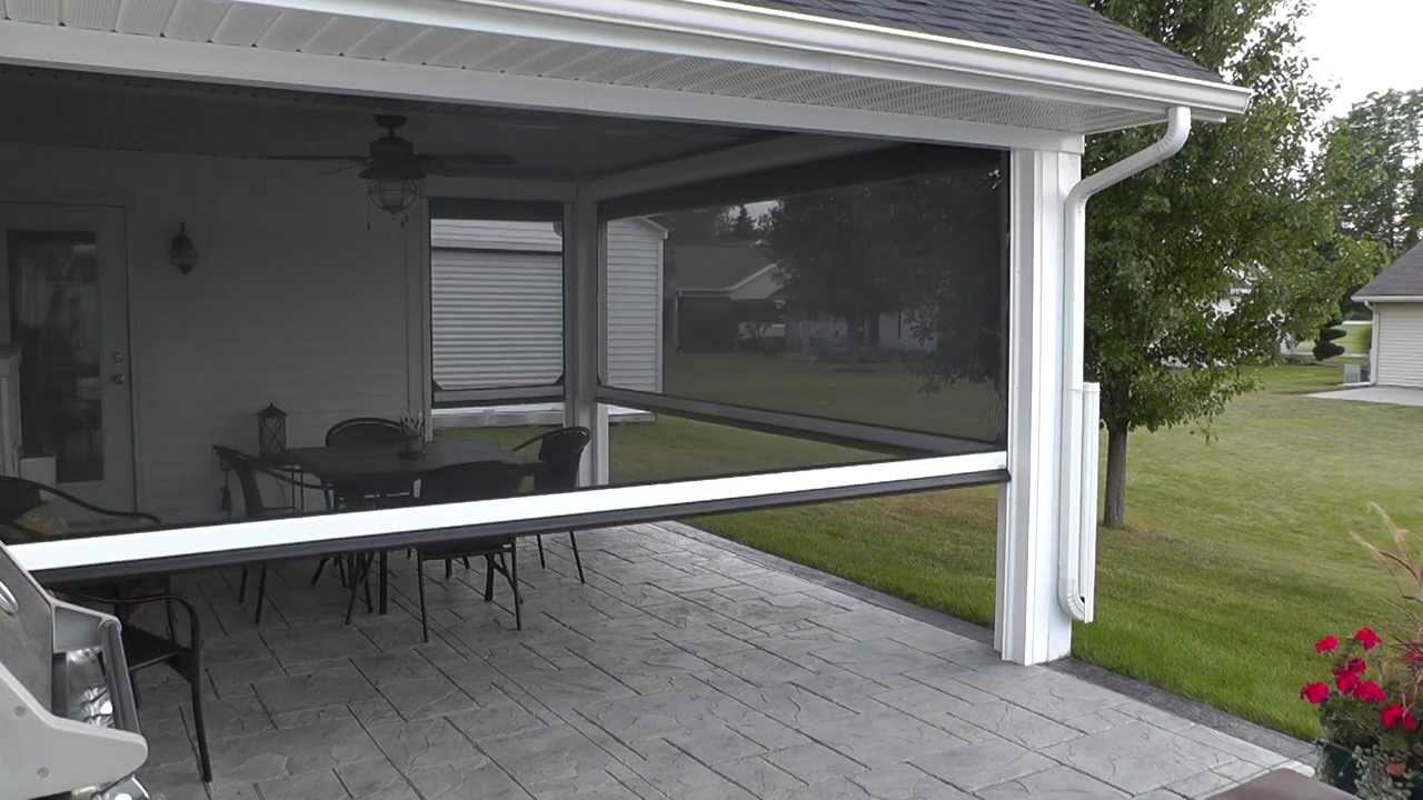 Motorized patio screen youtube Motorized porch screens