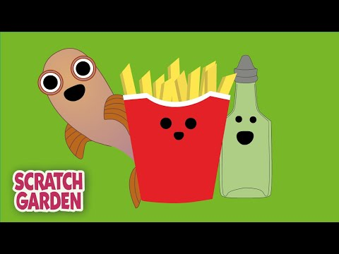 Fish And Chips And Vinegar | Camp Song | Scratch Garden