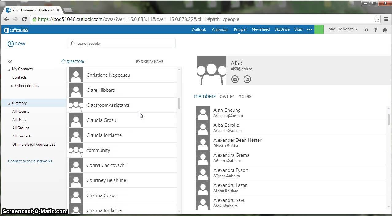 My contacts people office 365 youtube for Design my office online