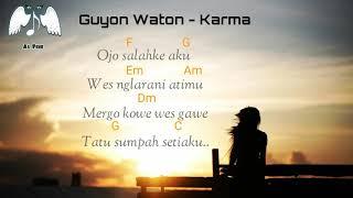 Chord Lirik Lagu GuyonWaton - Karma