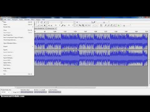 Saving Audacity Projects
