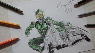 Dibujo de Duende Verde: El Hombre Araña/ Drawing Green Goblin: Spiderman