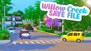 BRING SIMS 4 WORLDS TO LIFE😍💚 // AMAZING SAVE FILE | THE SIMS 4