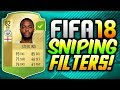 EASY & SIMPLE SNIPING FILTERS! - (FIFA 18 Trading Methods and Tips!)