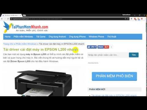 Download Epson L200 Driver - Cài đặt driver máy in Epson