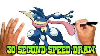 Greninja (Pokemon)- Speed Draw Preview