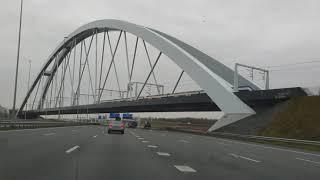 Dashcam Beelden Amsterdam: A9,A1,en A6 Knooppuntten Holendrecht,Diemen. Muiderberg, Gooimeer.
