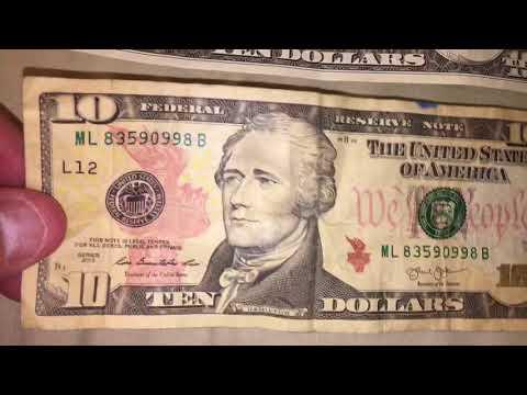 Old 10 Dollar Bill Vs New 10 Dollar Bill Money Cash