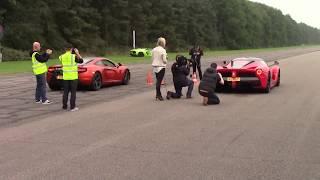 !! NEW VIDEO La Ferrari vs Mclaren  DRAG RACE !!