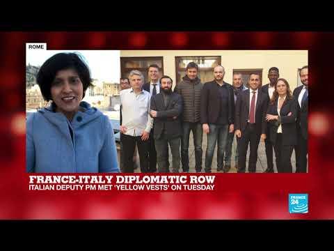 "France-Italy diplomatic row: Paris recalls Rome envoy over ""unprecedented"" criticism"
