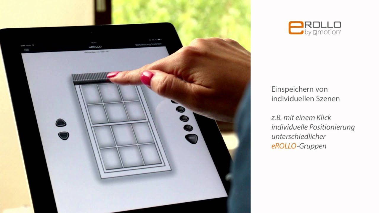 erollo smart home steuerung elektronischer rollos mit. Black Bedroom Furniture Sets. Home Design Ideas