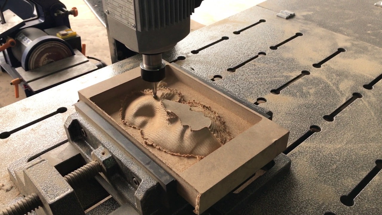 Cnc router d human face relief with wood material youtube