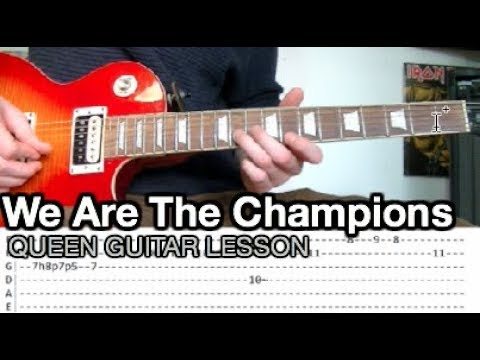 Queen - We Are The Champions Guitar Lesson (WITH TABS)