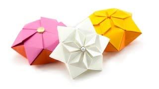 Origami Hexagon Puffy Star Tutorial - Paper Kawaii