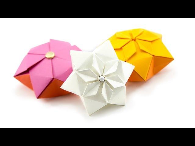 Origami Hexagon Puffy Star Tutorial Paper Kawaii