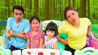 Nora and Sister Playing with Their Parents | Good Time With Kids
