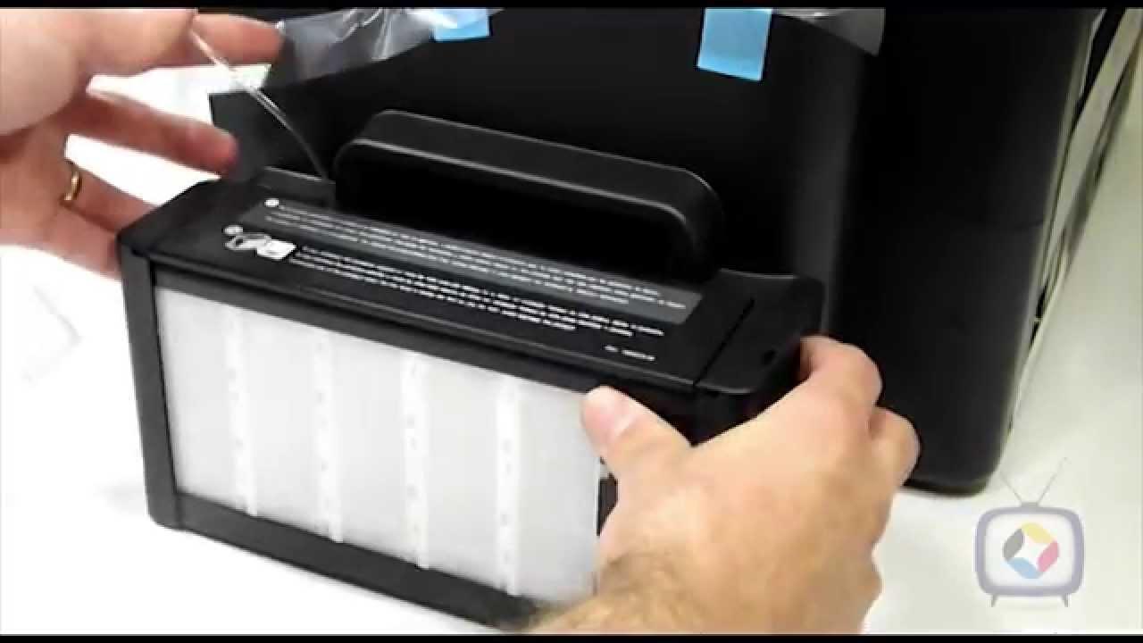 Epson L1300 instalando coletor de residuos e recarregando