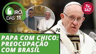 Papa com Chico Buarque: preocupação com Brasil - Giro das 11 - 12.dez.2018