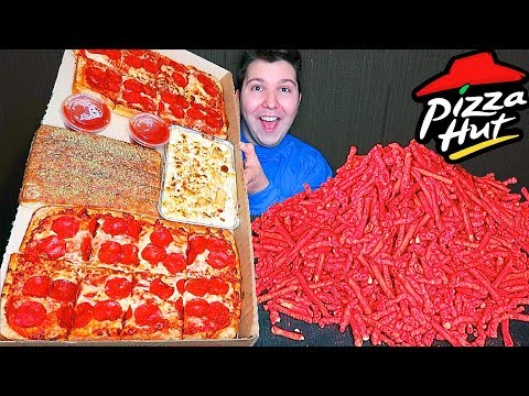 Massive Pizza Hut Takis Dinner Box • MUKBANG from YouTube · Duration:  45 minutes 20 seconds