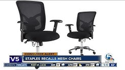 Staples recalls mesh chairs