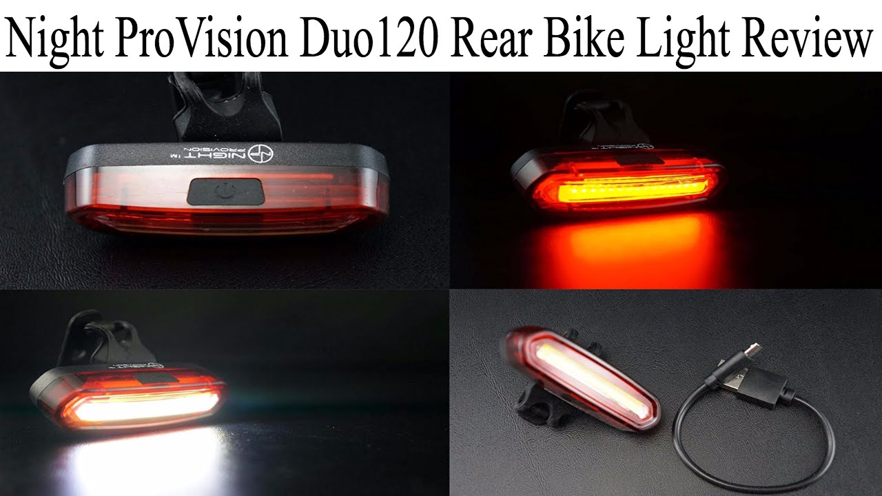 578317afebb Night ProVision Duo 120 Rear Bike Light Review - YouTube