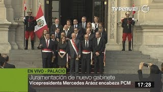 Presidente Kuczynski tomó juramento a los ministros que conforman el Gabinete Ministerial