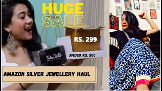 AMAZON PRIME SALE -  OXIDISED SILVER JEWELLERY HAUL || RAKHI SINGH