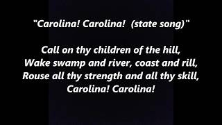 Carolina official state song LYRICS WORDS BEST TOP POPULAR FAVORITE SING ALONG SONGS not on my mind