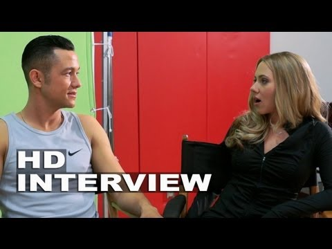 Don Jon: Scarlett Johansson & Joseph Gordon-Levitt On Set Movie Interview Part 1 of 2