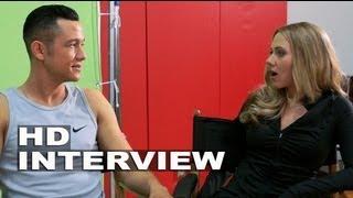 Don Jon: Scarlett Johansson & Joseph Gordon-Levitt On Set Movie Interview Part 1 of 2