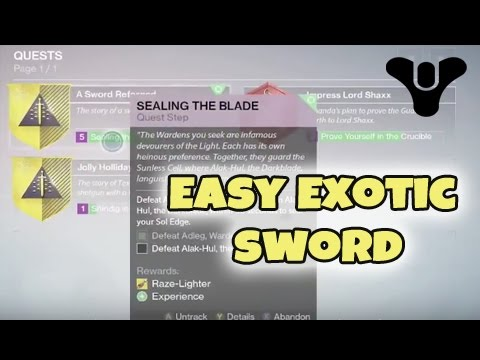 how to get exotic sword