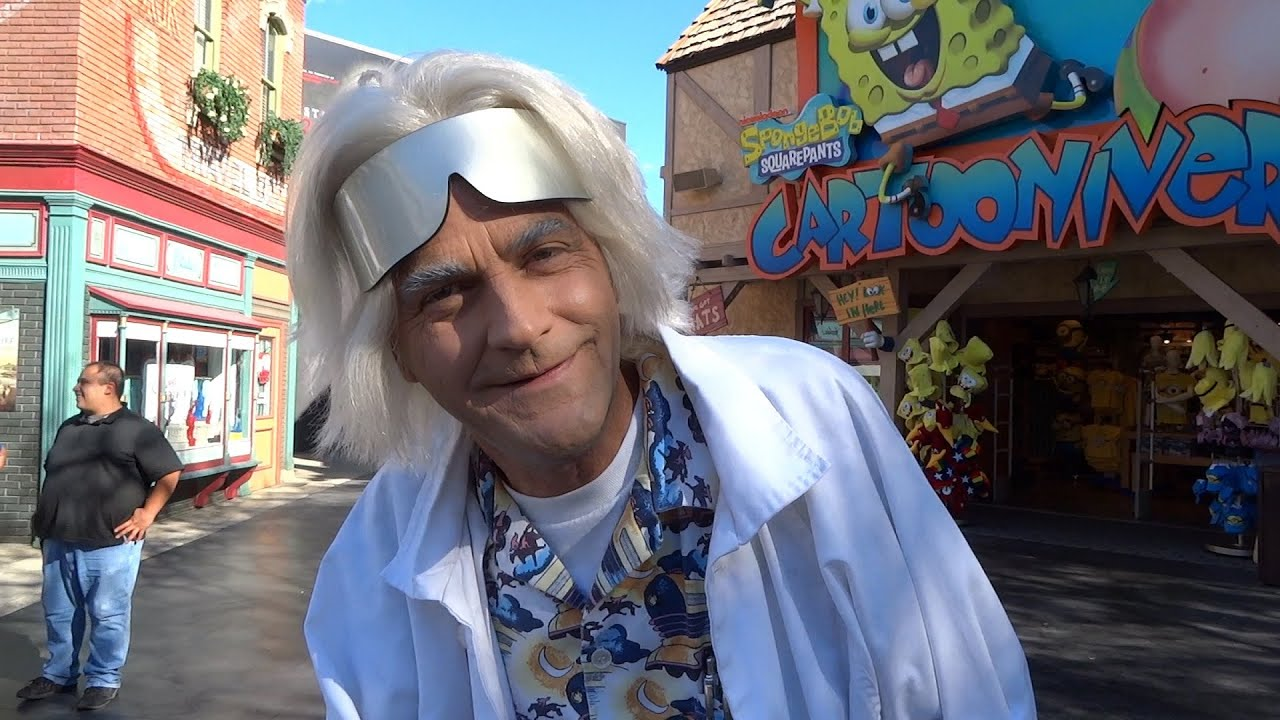 Doc Brown's thoughts on the future at Back to the Future Day at Universal Studios Hollywood - YouTube