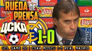 CSKA Moscu 1-0 Real Madrid Rueda de prensa de LOPETEGUI Champions (02/10/2018)