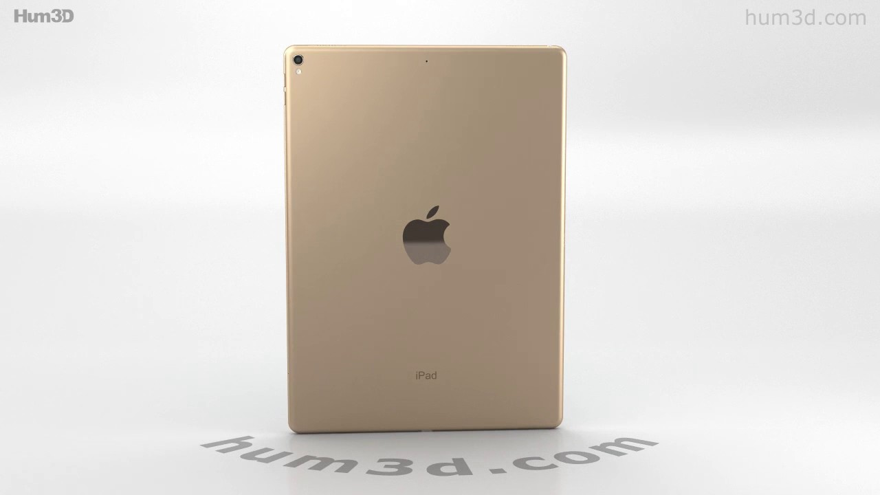Apple Ipad Pro 12 9 Inch 2017 Gold 3d Model By Hum3d Com Youtube