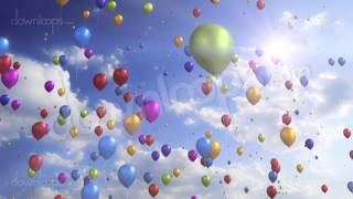 Colorful Balloons - Festive / Party Video Loop / Animated Motion Background