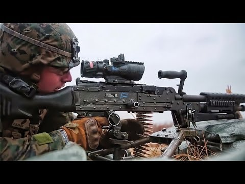 Marines Lay Down Suppressive Fire In Latvia