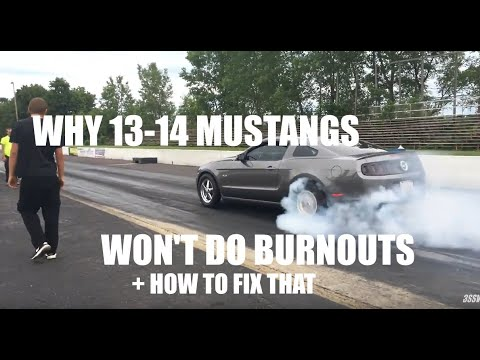Why The 13-14 Mustang WON'T BURNOUT