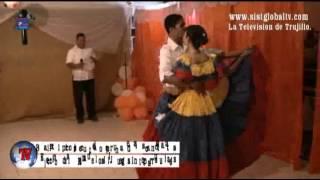 Baile con Traje Tipicos eleccion de la Reina de los II Juegos Interparroquiales Carache 2012